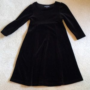 EUC Lands' End velour long sleeve dress
